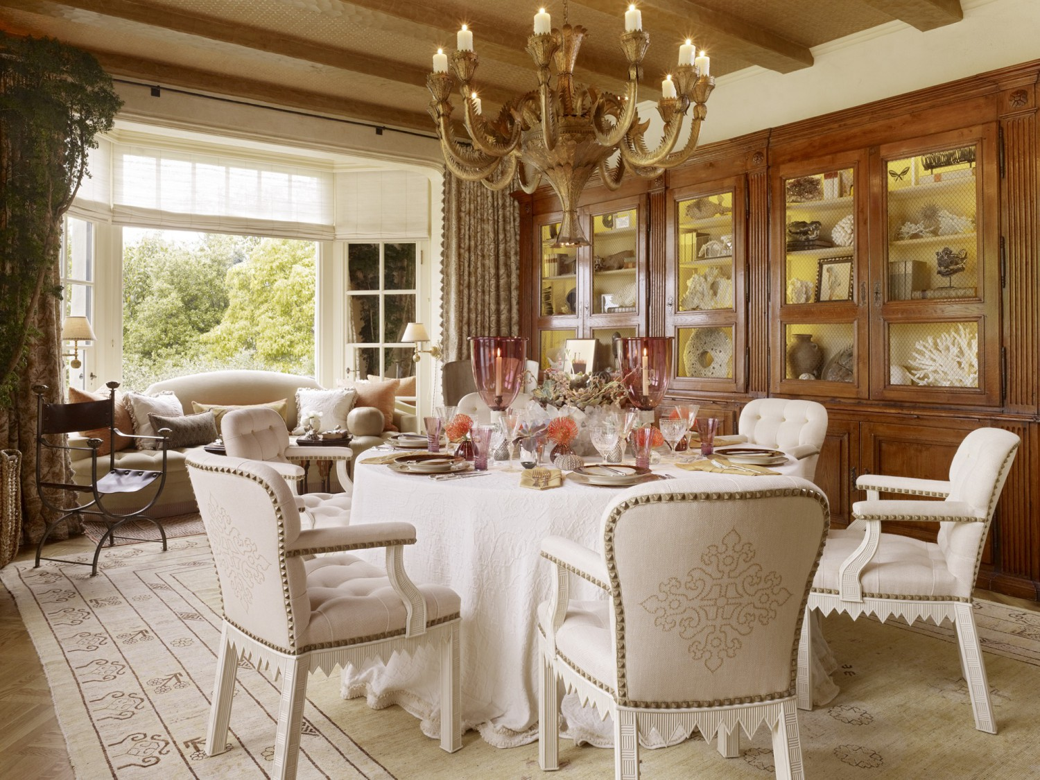 Showcase dining room tucker marks design - Dining room showcase designs ...